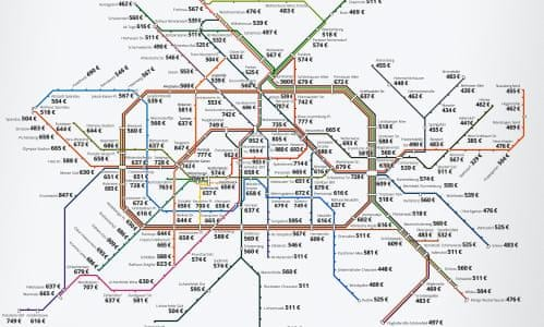 How much it costs to rent in Berlin – mapped by its metro stations ...