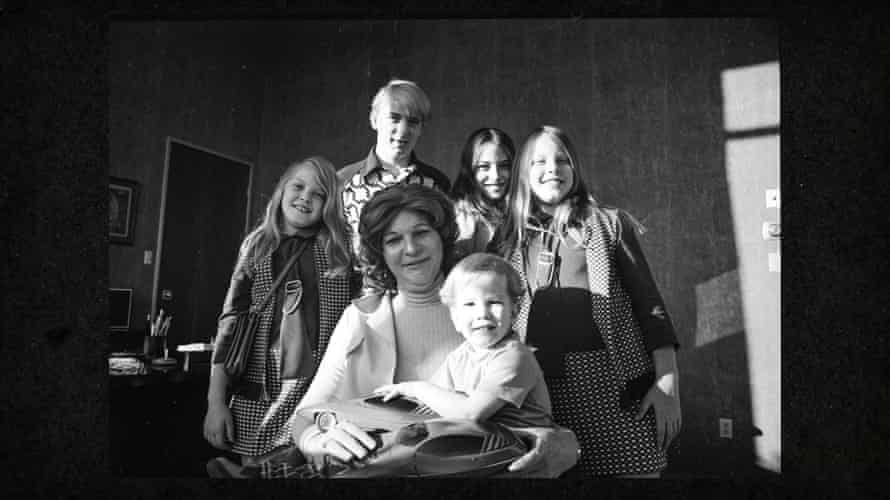 Elizabeth Carmichael with her family.