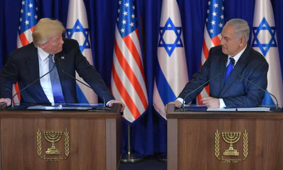 Trump and Netanyahu in Jerusalem ... 'The desire to obliterate Obama's mark on history may be something else that Trump and Netanyahu share.'