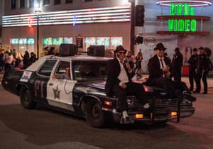 A Blues Brothers-themed car