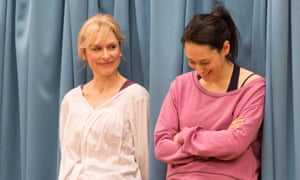 Amelia Bullmore (Marty) and Sian Clifford (Theresa) in Circle Mirror Transformation by Annie Baker, directed by Bijan Shebani, at Home, Manchester.