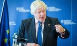 Boris Johnson in Slovakia on Tuesday