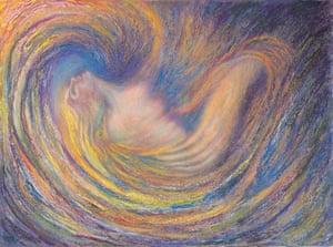 My Portrait's Dream, pastel over watercolour, by Kim Novak.