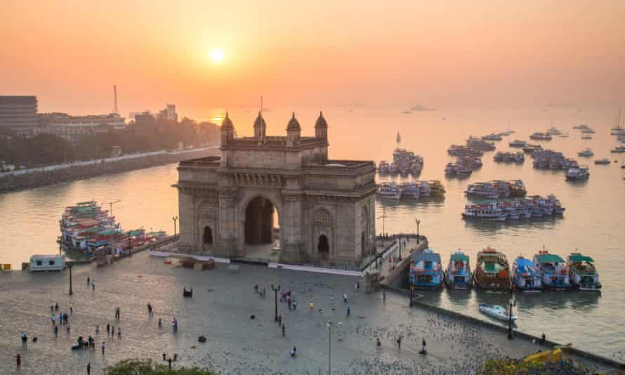 The Gateway of India in Bombay, a monument commemorating the landing of King George V and Queen Mary in 1911.