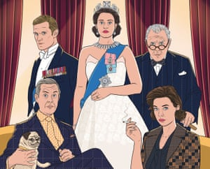 Illustration of TV show The Crown