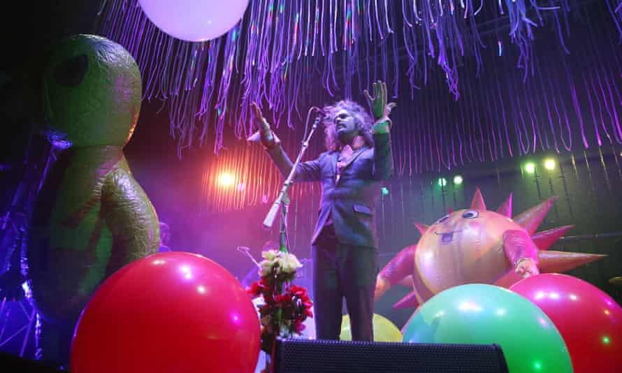 Flaming Lips frontman Wayne Coyne in London.
