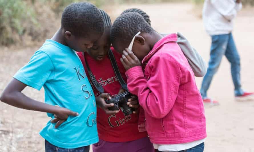 Girls from Kibera School for Girls, Nairobi, during a trip to Samburu National Reserve, Kenya, to celebrate World Elephant Day 2016.