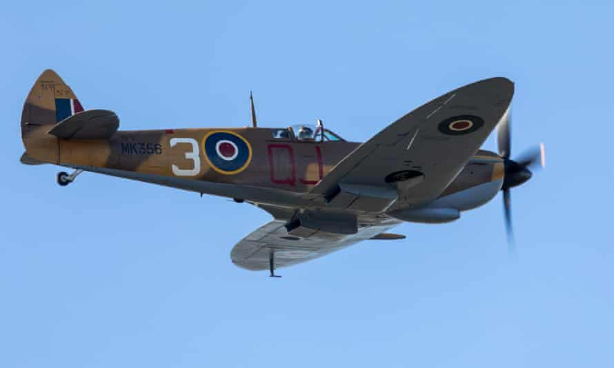 A Spitfire over the house of Capt Tom Moore on his 100th birthday