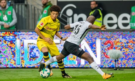 Jadon Sancho makes Dortmund debut as Bundesliga leaders blow lead