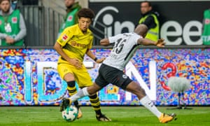 Jadon Sancho became the the first Englishman in history to pull on Borussia Dortmund's black-and-yellow shirt.