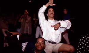 Strike a pose: Derrick Xtravaganza Huggins (bottom) and Cesar Valentino at the Copacabana nightclub in New York in May 1989.