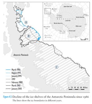 Larsen Ice Shelf decline.