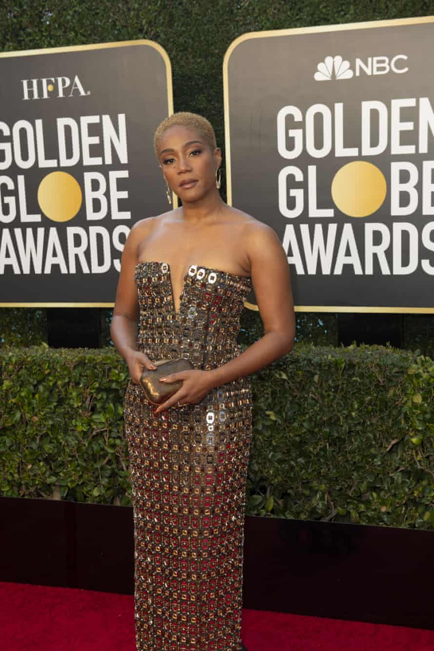 Tiffany Haddish at the Golden Globes.