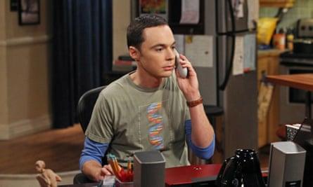 Jim Parsons as Sheldon in The Big Bang Theory.