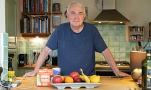Robin McKie, who is well on his way to a much healthier weight, in his kitchen in London.