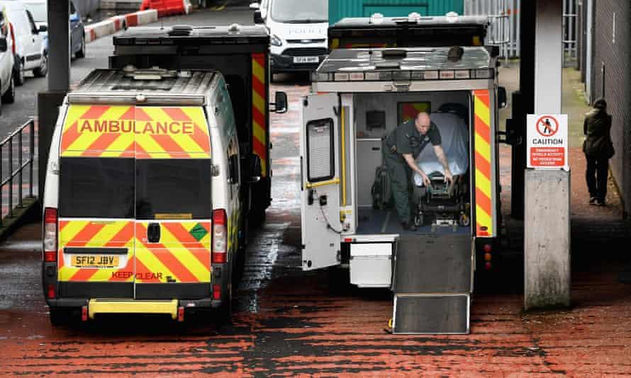 Ambulances at Glasgow royal hospital