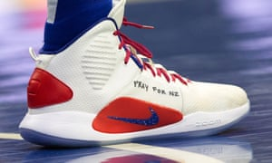 Ben Simmons's sneakers during a game against the Sacramento Kings
