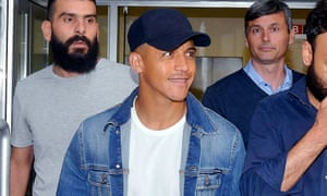 Alexis Sánchez in Milan on Wednesday for his medical.