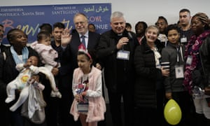 Pope's aide takes 33 refugees to Rome after visit to