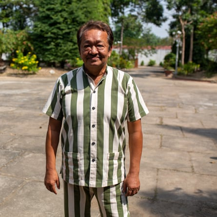 Joe Hui, in prison clothes