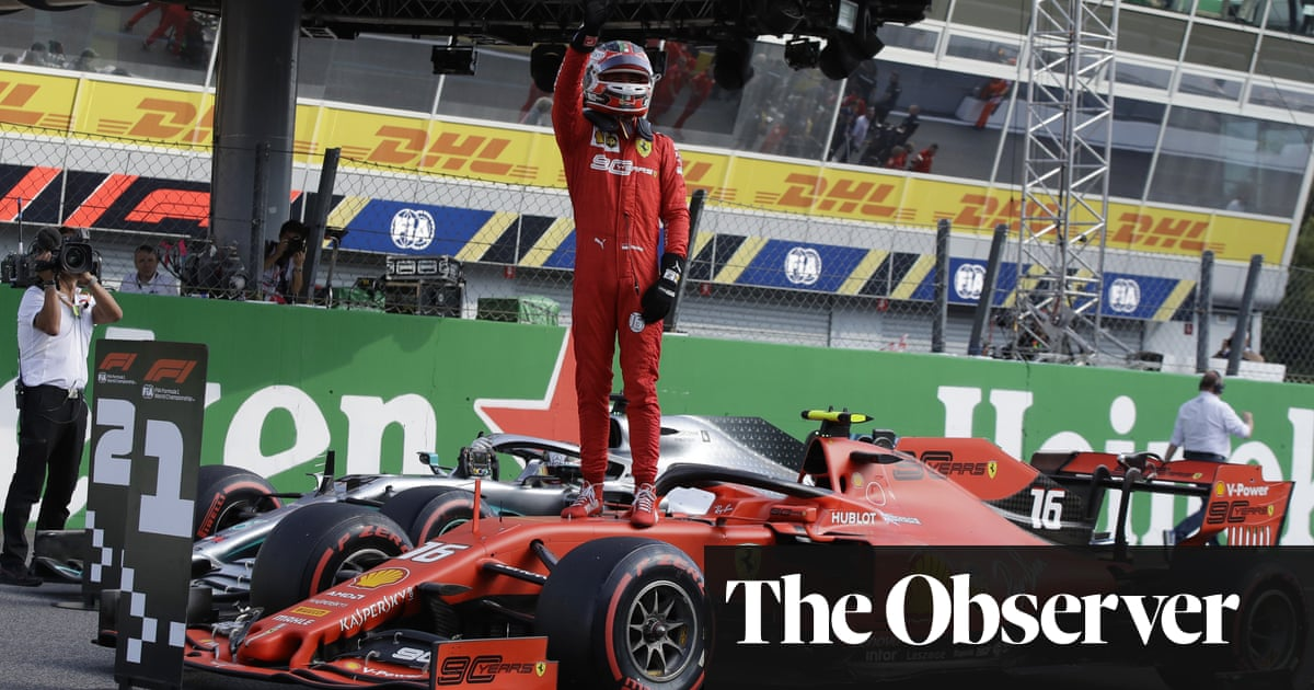 Charles Leclerc on Monza pole for Ferrari as qualifying ends in farce