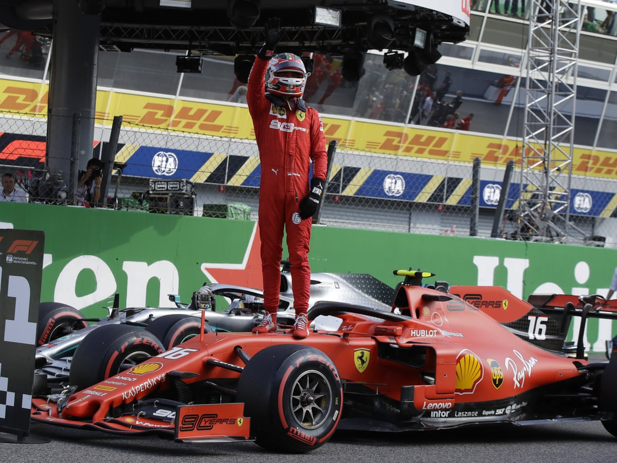 Charles Leclerc On Monza Pole For Ferrari As Qualifying Ends In Farce Formula One 2019 The Guardian