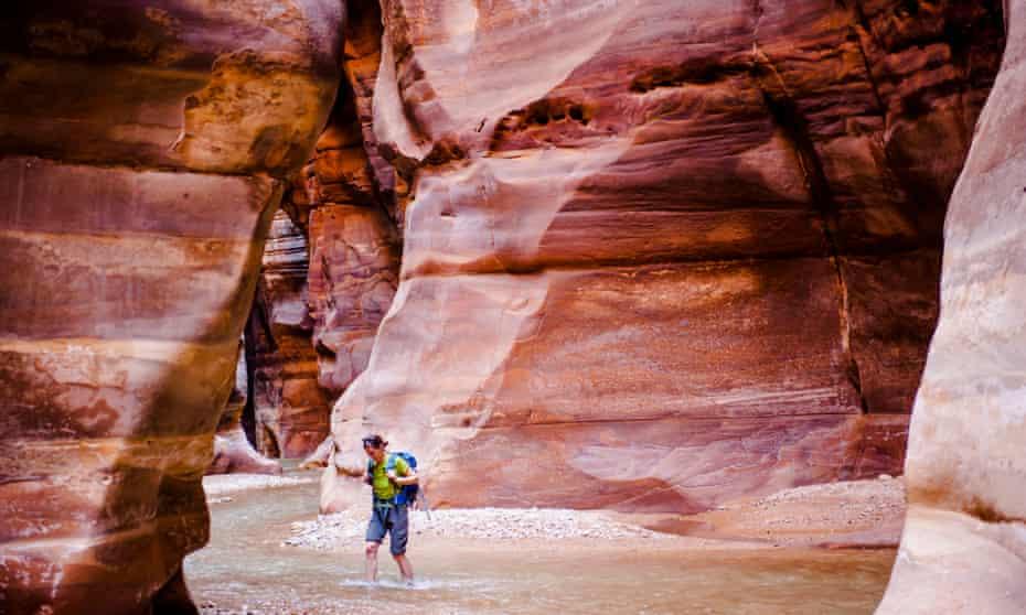 Woman in the Wadi Mujib river