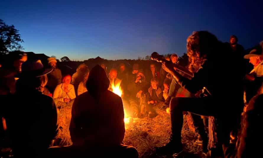 The campfire sing-song