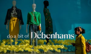 Is the future bright? The Debenhams store on London's Oxford Street