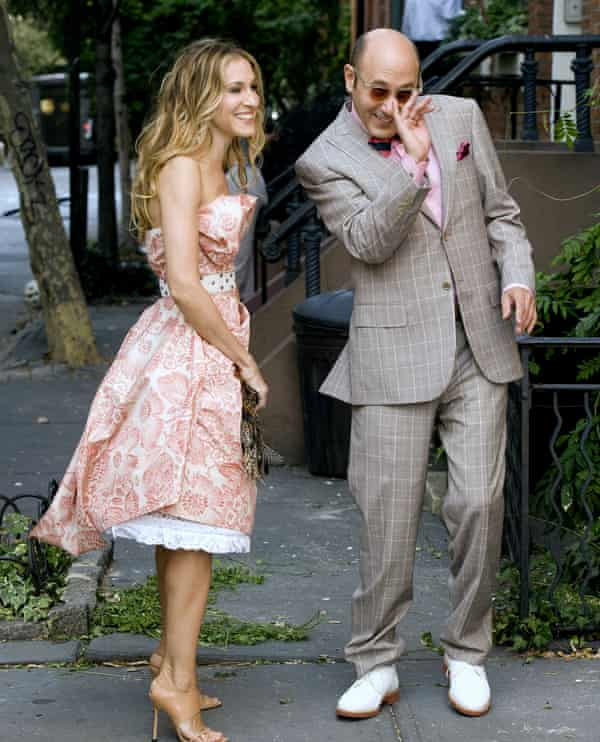 Sarah Jessica Parker and Willie Garson Film on the set of Sex and the City.