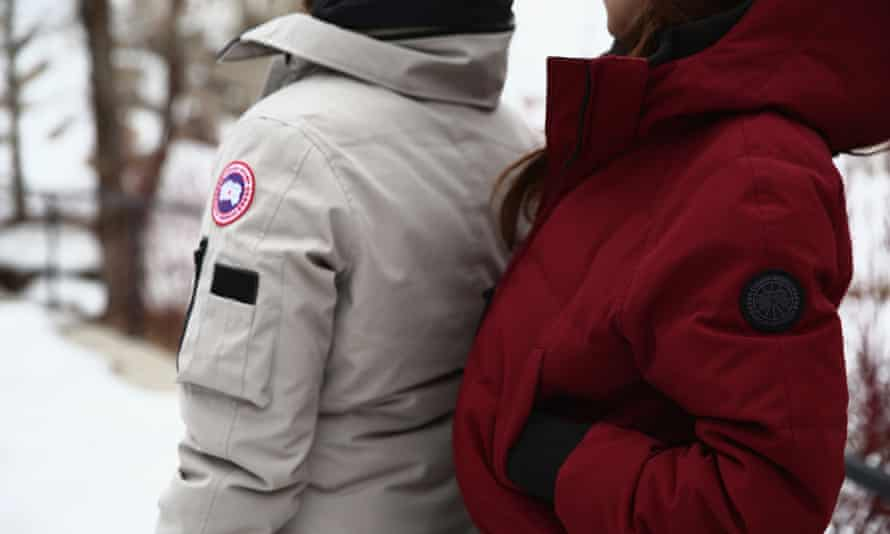 Pupils wearing Canada Goose jackets