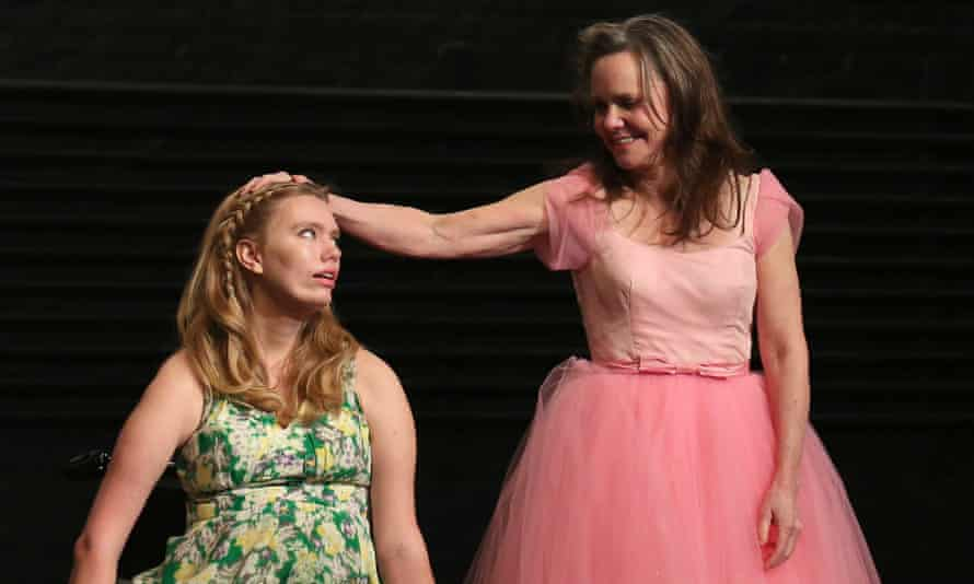 Madison Ferris and Sally Field in Glass Menagerie.