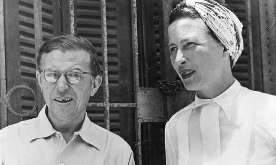 Simone de Beauvoir and Jean-Paul Sartre in Senegal in 1950.