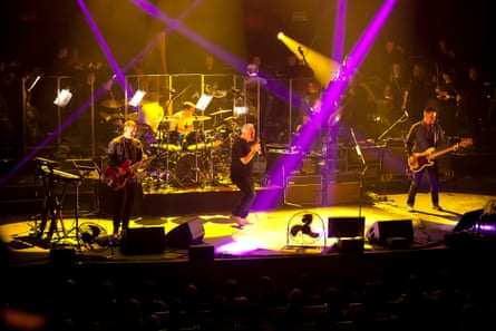 'It sounds spectacular': New Order in concert with the Australian Chamber Orchestra at the Sydney Opera House on Thursday.
