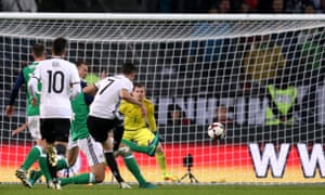Germany's Julian Draxler scores his side's first goal of the game.