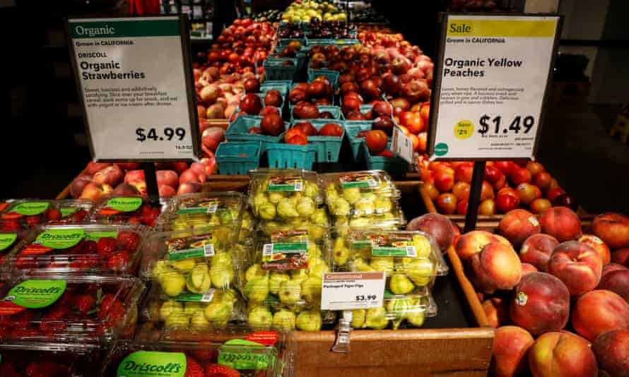 Fruit displayed at a Whole Foods store in New York.