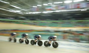 Team GB's Katie Archibald, Laura Trott, Elinor Barker and Joanna Rowsell-Shand compete in the women's team pursuit final on day eight of the 2016 Olympic Games in Rio de Janeiro, Brazil