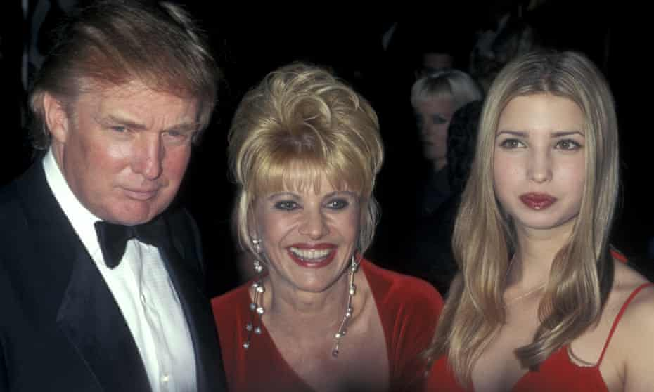 Donald and Ivana Trump with daughter Ivanka in 1998