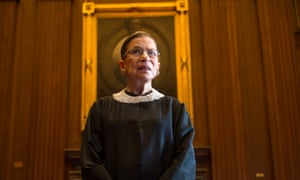 Ruth Bader Ginsburg celebrating her 20th anniversary on the bench at the US supreme court in Washington on 30 August 2013.