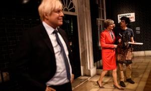 New wax models of Theresa May and Boris Johnson.