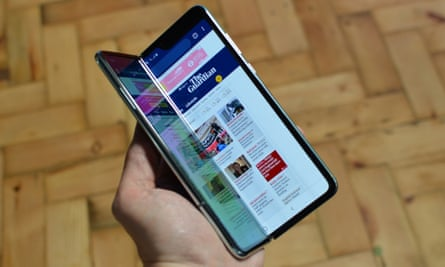 The Galaxy Fold is the first device with Samsung's new flexible screen that unfolds like a book to become a small tablet.