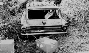 The burned station wagon car of missing civil rights workers Michael Schwerner, Andrew Goodman, and James Chaney was found in a swampy area near Philadelphia, Mississippi, on 24 June 1964.