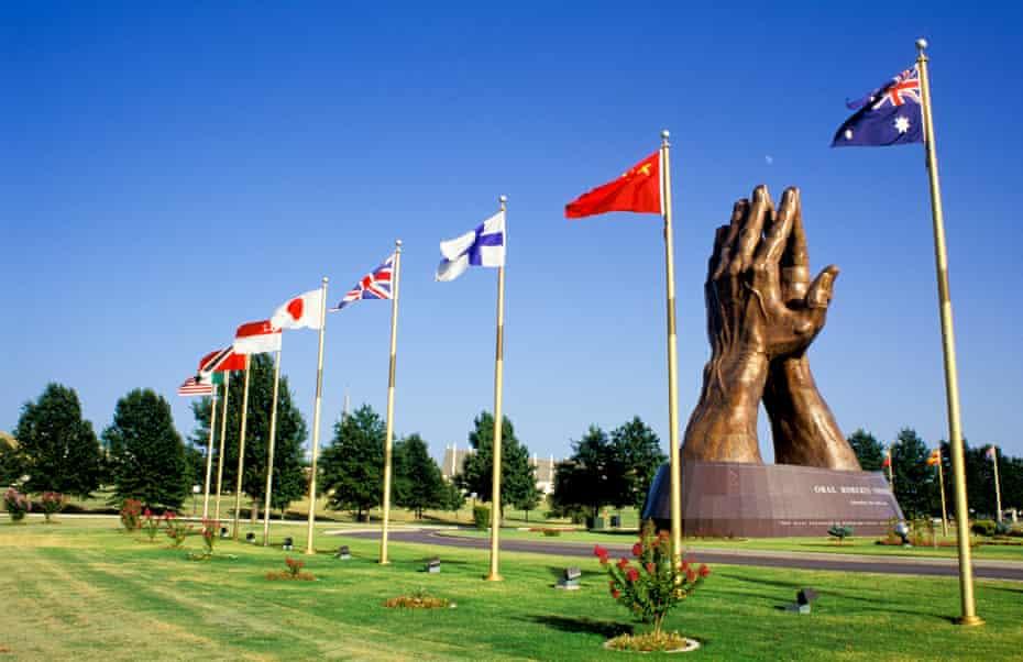 Oklahoma, Tulsa, Oral Roberts University, Prayer Hands.