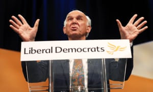 Vince Cable at the Lib Dems' 2017 autumn conference