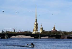 The River Neva in St Petersburg.