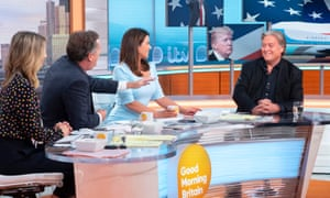 Steve Bannon (right) on ITV's Good Morning Britain in July.