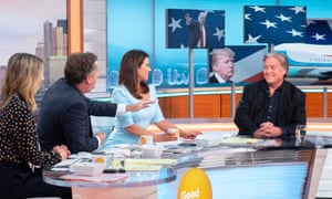 Steve Bannon appearing on Good Morning Britain in July 2018.