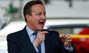 David Cameron speaks to workers at Ellesmere Port