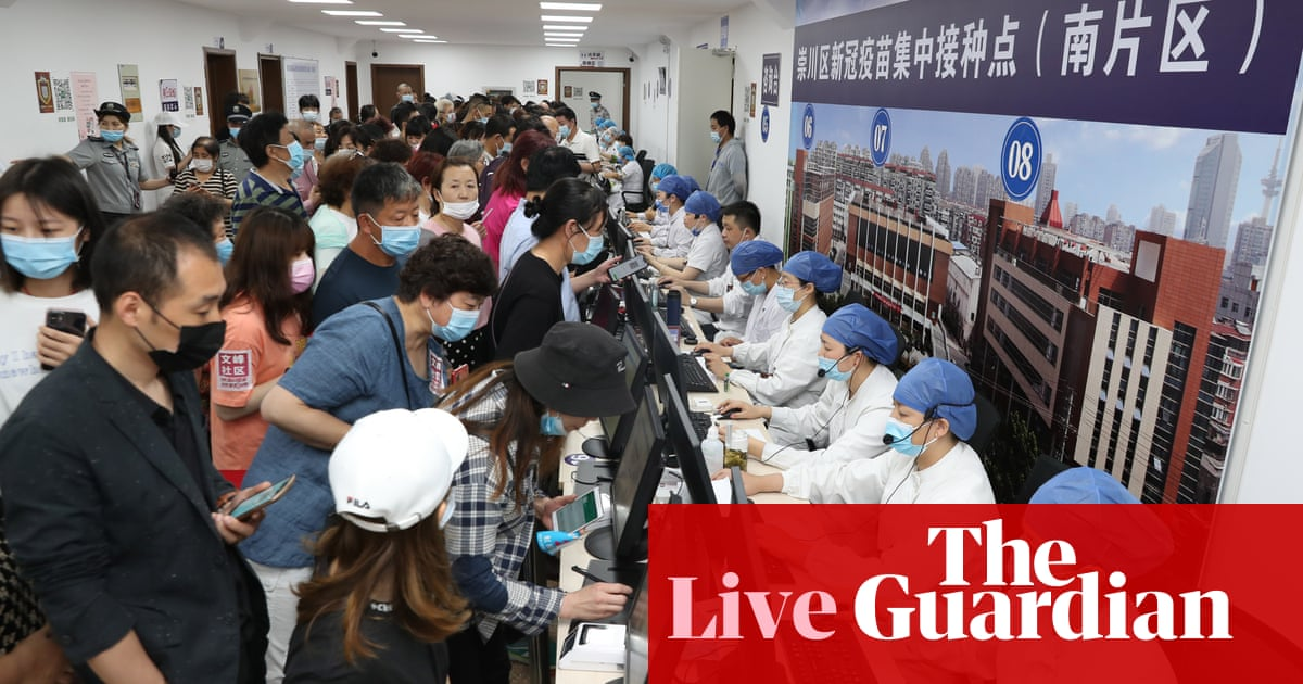 Coronavirus live news: China approves vaccine for three-year-olds; more than 1m Europeans get Covid travel pass
