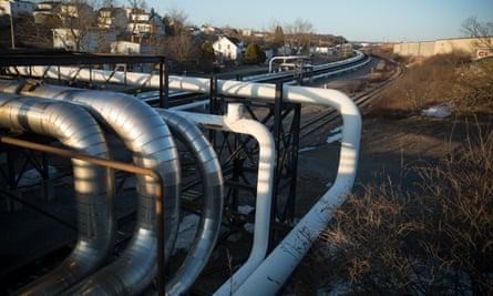 Pipelines carrying oil and other chemicals run past residential blocks and houses in Saint John, the end for the proposed Energy East pipeline.